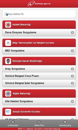 e-Devlet – Android Uygulaması