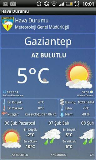 Hava Durumu – Meteoroloji Durumu