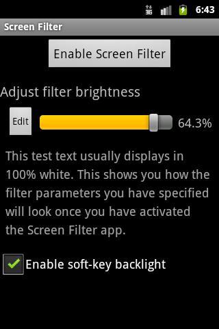 Screen Filter – Telefon Ekranı için Gece Modu