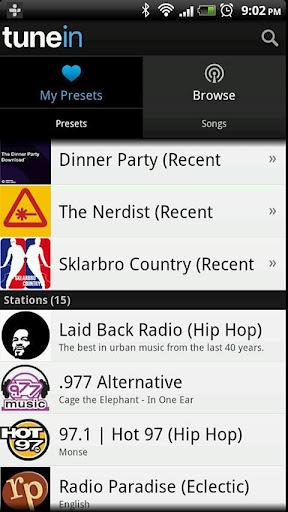 TuneIn Radio – İnternetten Radyo Dinleyin