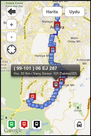 EGO Otobüs – Ankara Otobüs Hatları Uygulaması