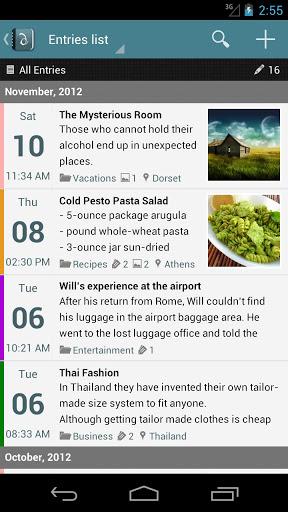 Diaro 3 – Android Günlük Uygulaması