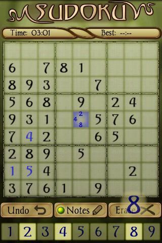 Sudoku – Android Oyunu