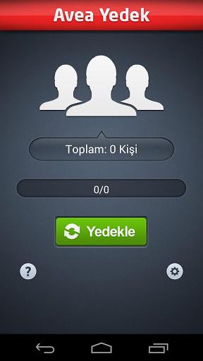 Avea Yedek – Telefon Rehberi Yedekleme