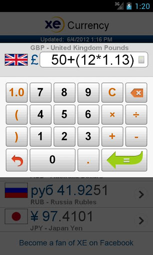 XE Currency – Döviz Kurları Çevirici