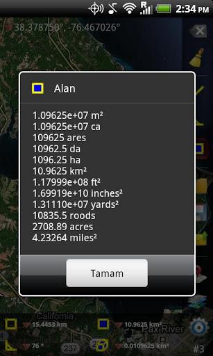 GPS Alan Ölçümü – Mobil Telefon Uygulaması