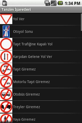 Trafik İşaretleri – Mobil Telefon Uygulaması