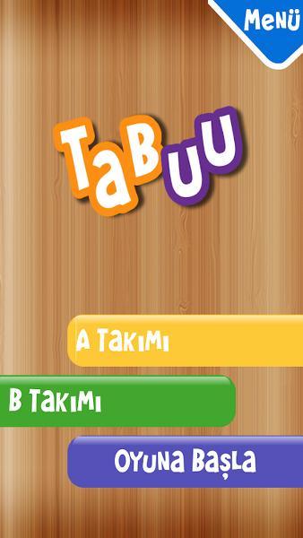 Türkçe Tabu Oyunu – Cep Telefonu Uygulaması