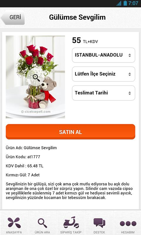 Çiçek Sepeti – Cepten Çiçek Siparişi