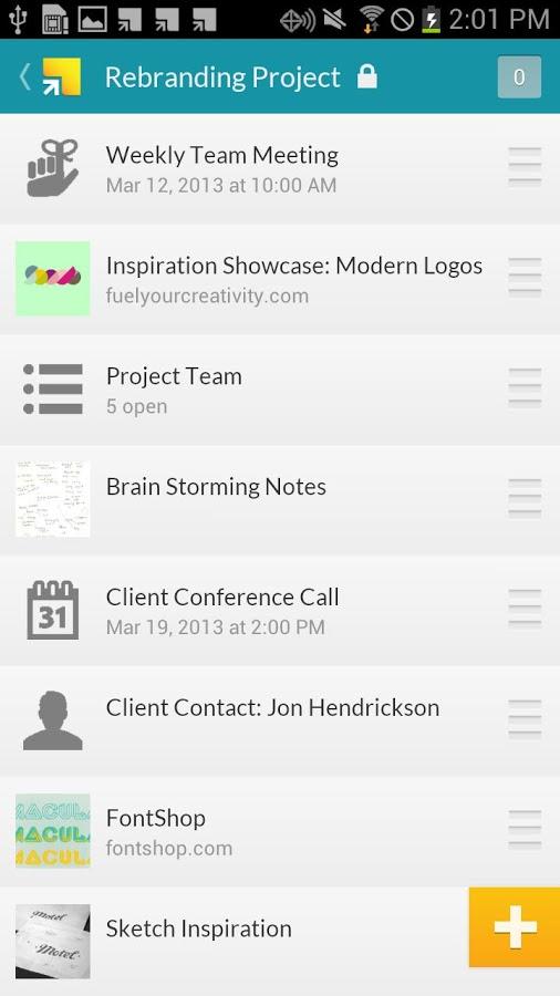 Springpad – Gelişmiş Not Defteri Uygulaması