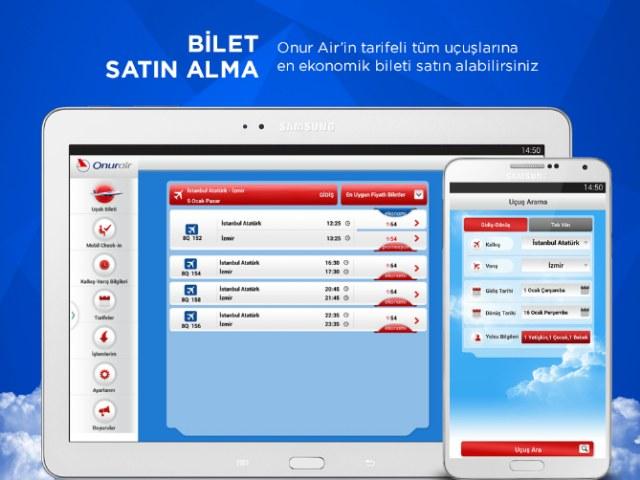 Onur Air – Online İşlemler Uygulaması