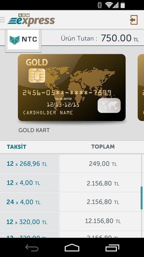 Kredi Kartlarınız Tek Uygulamada – BKM Express