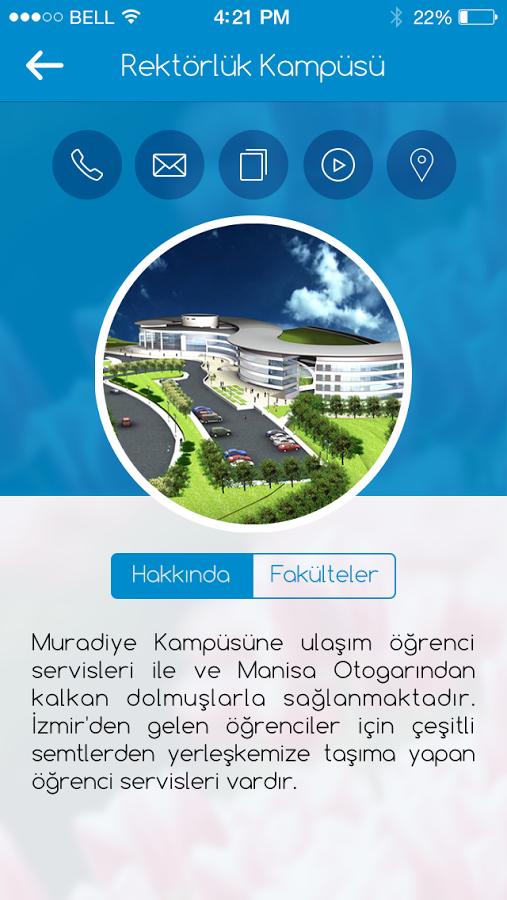 Celal Bayar Üniversitesi Resmi Uygulaması