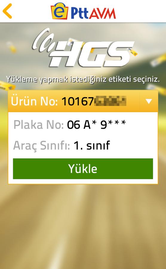 Hızlı Geçiş Sistemi (HGS) Bakiye Yükleme