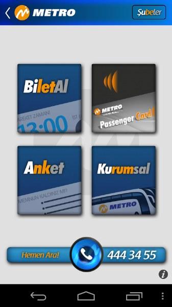 Metro Turizm Bilet Satış Uygulaması