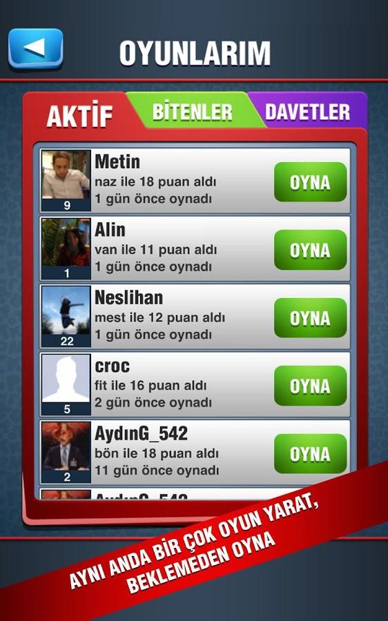 Türkçe Scrabble Kelime Oyunu – Kelimelik