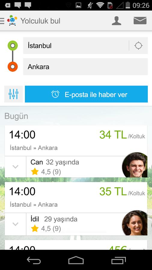 Ortak Yolculuk Paylaşım Uygulaması – BlaBlaCar