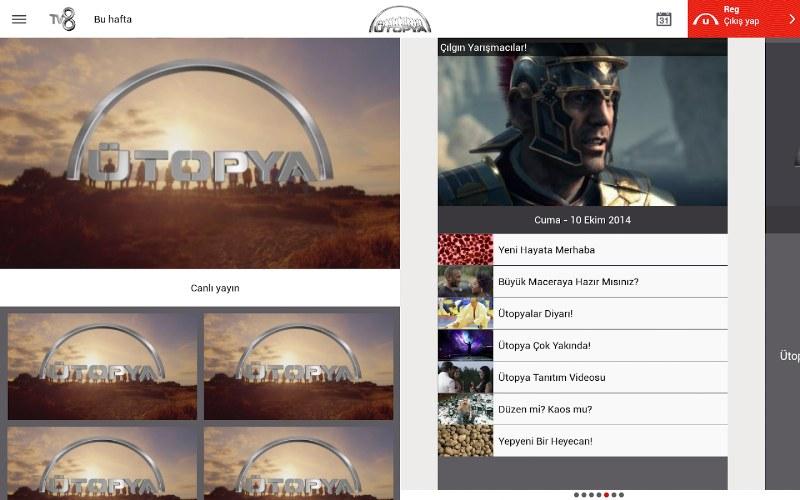 Ütopya TV8 Android Uygulaması