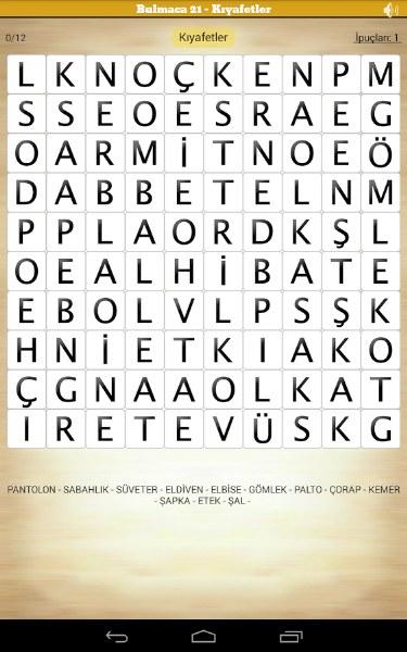 Android Kelime Oyunu ve Cevaplar – Gizemli Kelime
