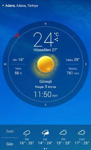 Canlı Hava Durumu Android Uygulaması