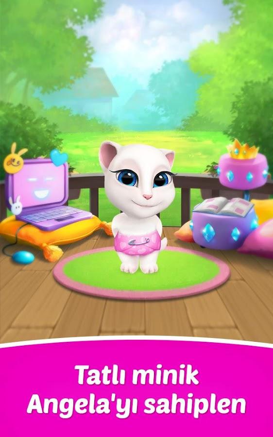 Telefon ve Tablet için Konuşan Kedi Angela