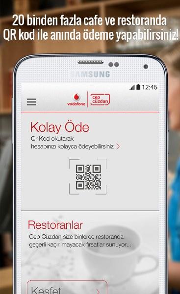 Vodafone Cep Cüzdan Android Uygulaması
