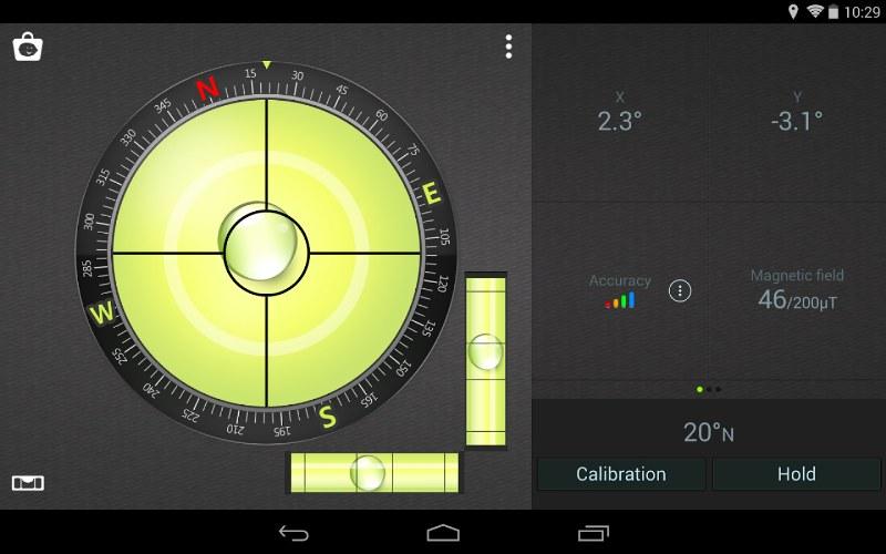 Android için Pusula ve Su Terazisi Uygulaması