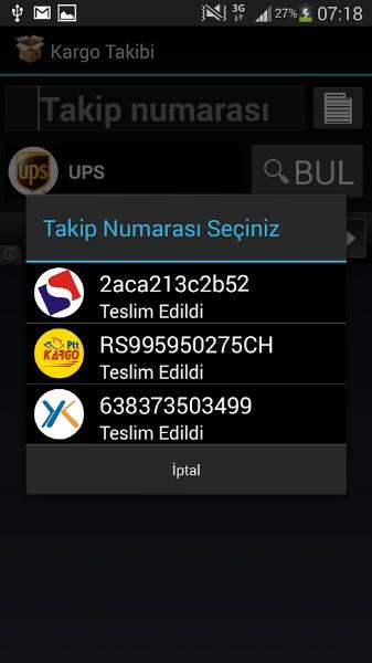 Android için Kargo Takip Uygulaması