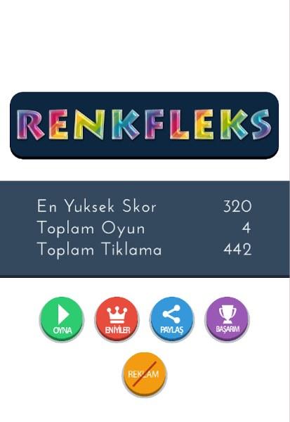 Renkfleks Android Renk Oyunu
