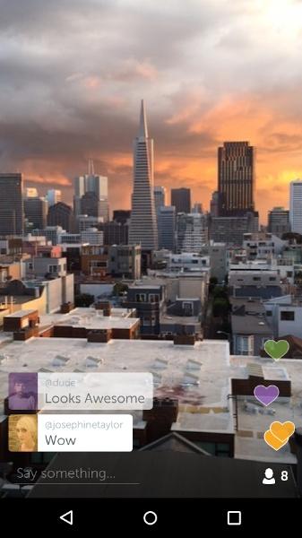 Periscope Canlı Yayın Android Uygulaması