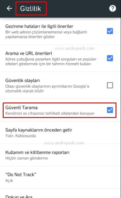 google-chrome-guvenlik