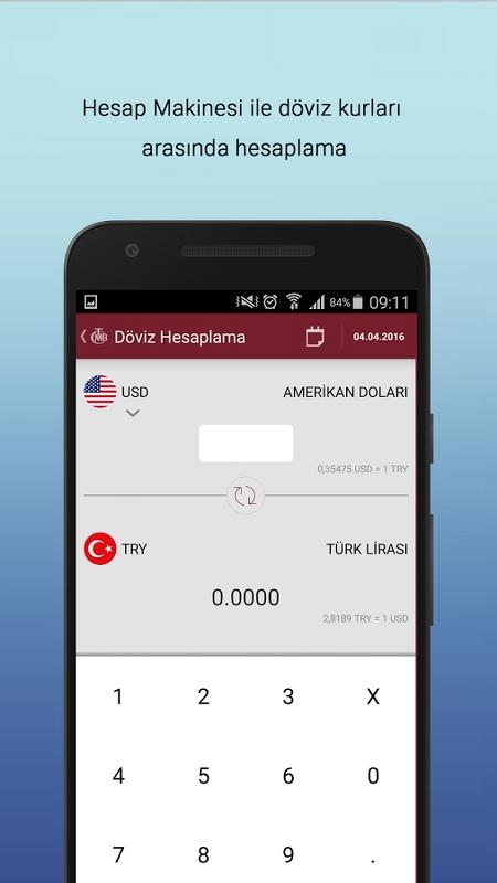 TCMB Döviz Kurları Android Uygulaması