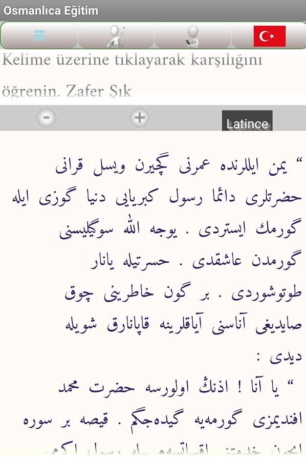 Osmanlıca Eğitim Android Uygulaması