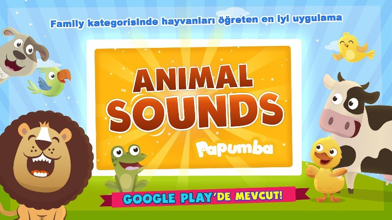 Çocuklar için Hayvan Sesleri Öğretici Uygulama