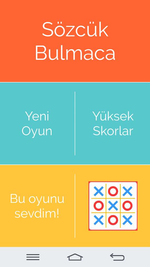 Android Sözcük Bulmaca – Kelime Oyunu