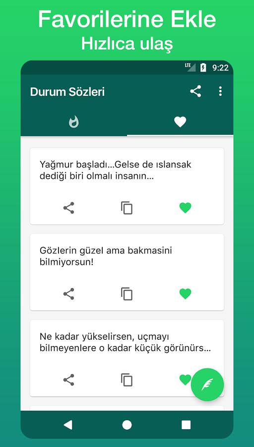 Durum Sözleri ve Mesaj Koleksiyonu – Android