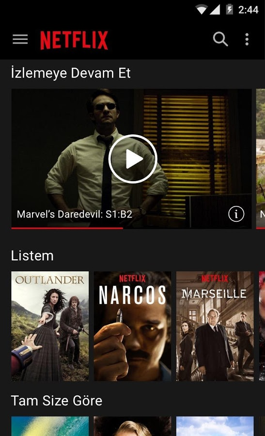 Telefondan Film ve Dizi İzleme – Netflix