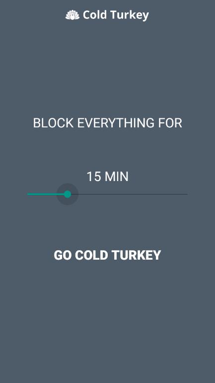 Telefon Bağımlılığı Azaltmak için Uygulama – Cold Turkey