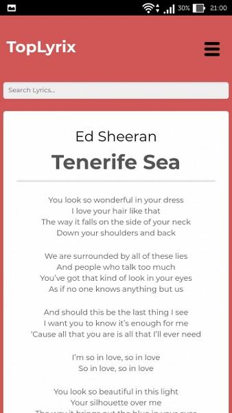 Şarkı Sözleri Android Uygulaması – TopLyrix