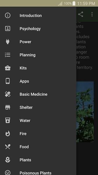 Hayatta Kalma Rehberi Android Uygulaması