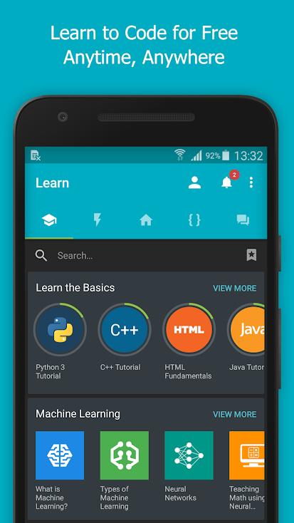 Kodlama ve Programlama için Ücretsiz Android Uygulama