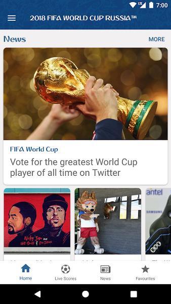 2018 Dünya Kupası FIFA Android Uygulaması