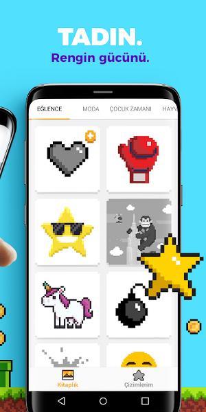 Sayılarla Boyama Android Oyunu