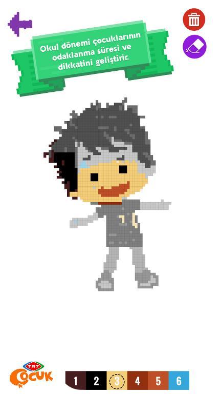 Piksel Boyama Oyunu – TRT Çocuk