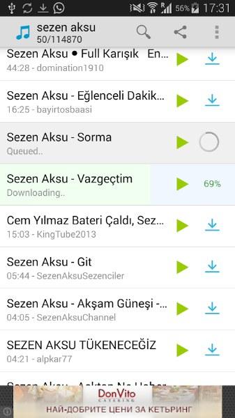 Android Müzik (Mp3) İndirme Uygulamaları