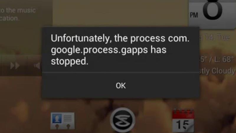Com.google.process.gapps işlemi durdu Hatası ve Çözümü