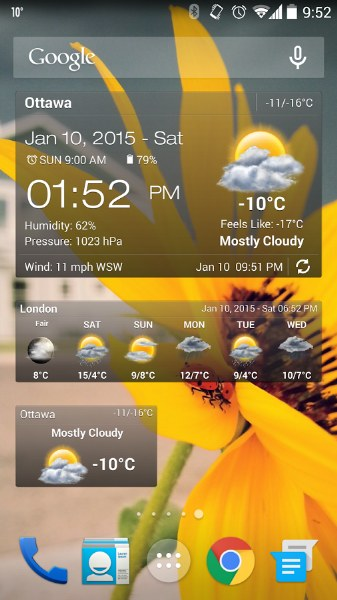 Android Hava Durumu ve Saat – Weather & Clock Widget