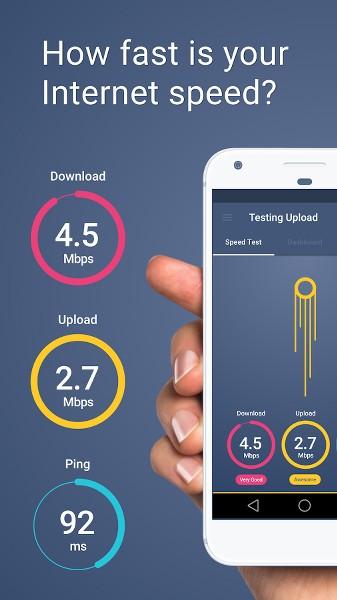 İnternet Hız Testi (Download & Upload & Ping)