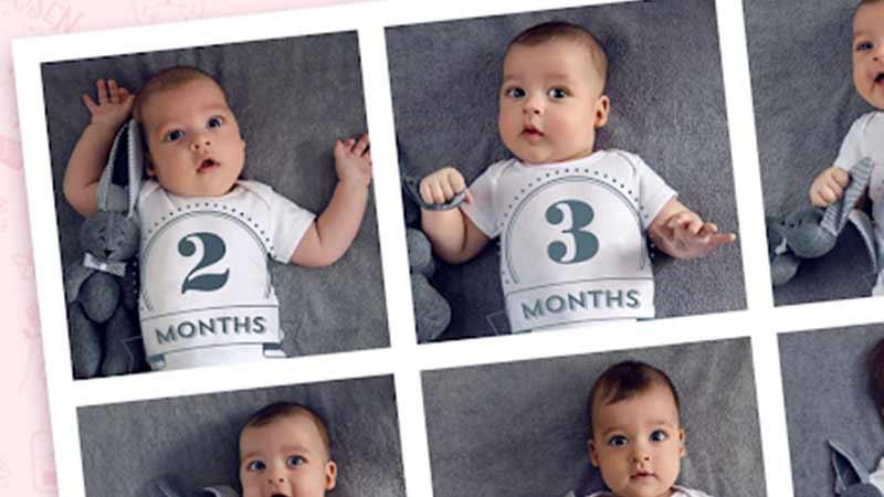 Hergüne Bir Bebek Fotoğrafı ile Fotoğraf Albümü