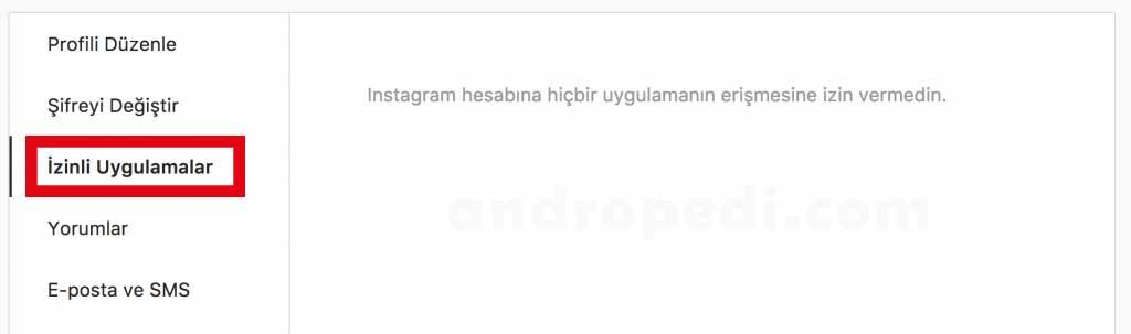 instagram takipçi uygulaması ve izinler